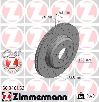 Bremsscheibe SPORT COAT Z ZIMMERMANN 460.1553.52