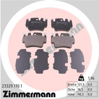 Zimmermann Brake pads for PORSCHE 911 (997) front