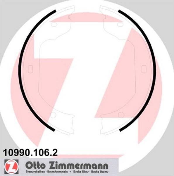 Zimmermann Bremsbackensatz F 252 R Bmw 6 E63 Hinten