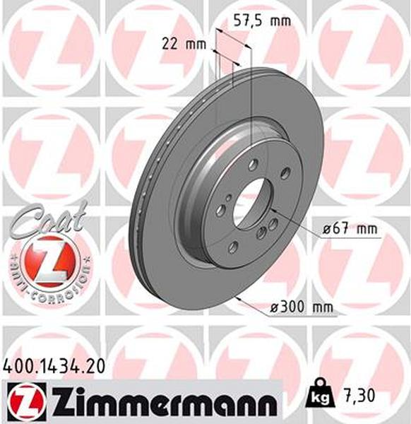 Bremsbeläge Mercedes W124 Zimmermann Bremsscheiben